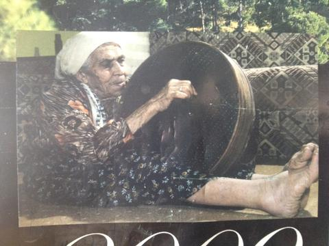 An image of an old Turkish women manually weaving the authentic Turkish Pestemal.